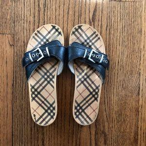 Burberry platform sandals
